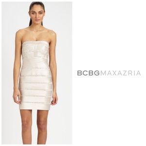 BCBGMaxAzria Rebecca Strapless Cocktail Dress